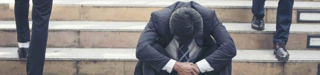 Burnout Syndrom eines Geschäftsmannes